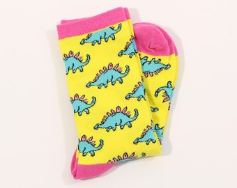 Floowyerion Mens Colorful Diplodocus Dinosaur Summer Novelty Sports Socks Crazy Funny Crew Tube Socks