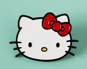 07fd09a075 Hello Kitty Face Enamel Pin    Official Sanrio Licensed Product    Lapel  Pin