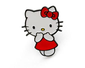 aedc869625 Red Dress Hello Kitty Enamel Pin    Official Sanrio Licensed Product     Lapel Pin