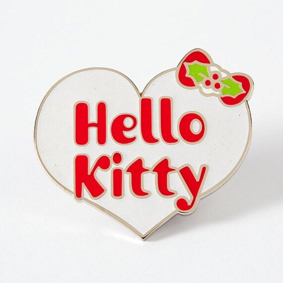 Hello Kitty Christmas.Sale Hello Kitty Christmas Heart Enamel Pin Hk Pin Lapel Pin Pin Game Pin Game Strong