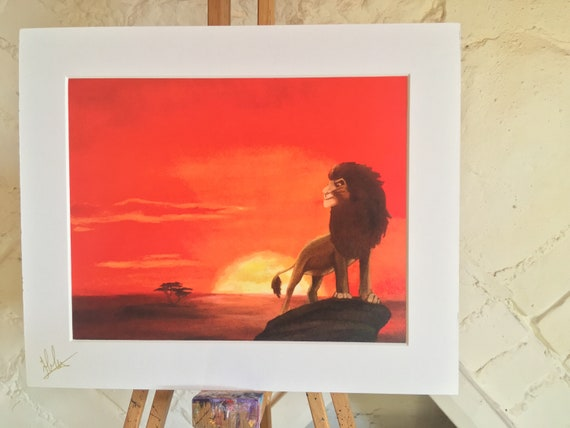 The Lion King Inspired Art Print Disney Original Classic Poster Home Decor Kids Decoration Movie Art Acrylic On Canvas Art Print