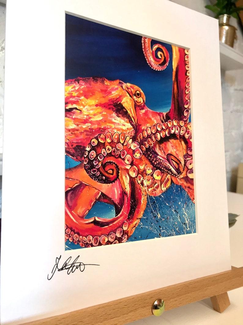 Home Decor Octopus Nursery Wall Art Print SeaLife Animal Art Wildlife Ocean Animal Wall Art Birthday Gift