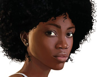 Custom portrait of your Original Character, Printable art, Only Digital File, High Quality Art.