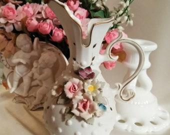 Lefton china hand painted vase | Etsy