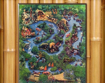 WDW Magic Kingdom Wooden Map Plaque