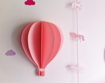 paper 210 gr - pattern wall balloon stick 3D - extra large