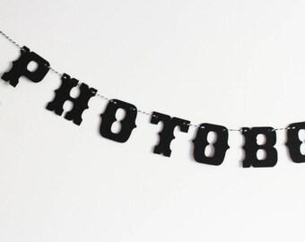 Large Garland photobooth-10 letters - vintage wedding decor