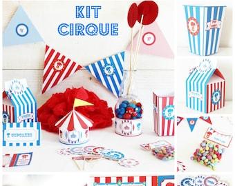lot anniversaire cirque pour enfant- pret e decorer- pour 6 enfants - candy bar