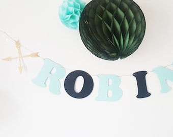 2 Angels Garland name paper coated cotton 4 letters
