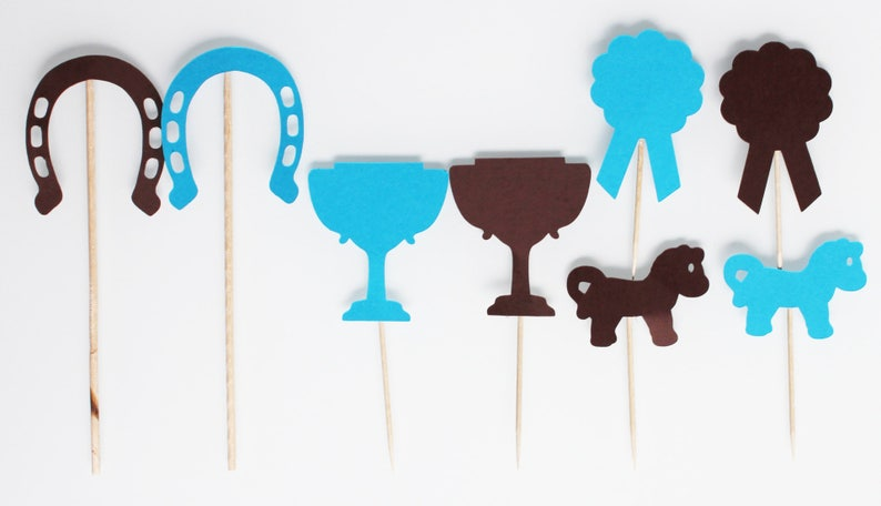 8 sets for your birthday-pony club  Brown turquoise theme image 0