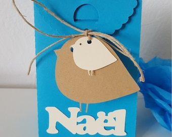 """Box dragees-christening - """"birds"""" theme - personalized kids name"""
