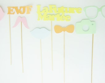 Bachelorette party photobooth, animation 8 photobooth accessories for bachelorette party, bachelorette party