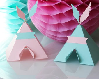 Little teepee-Indian pink green-210 g - Indian birthday