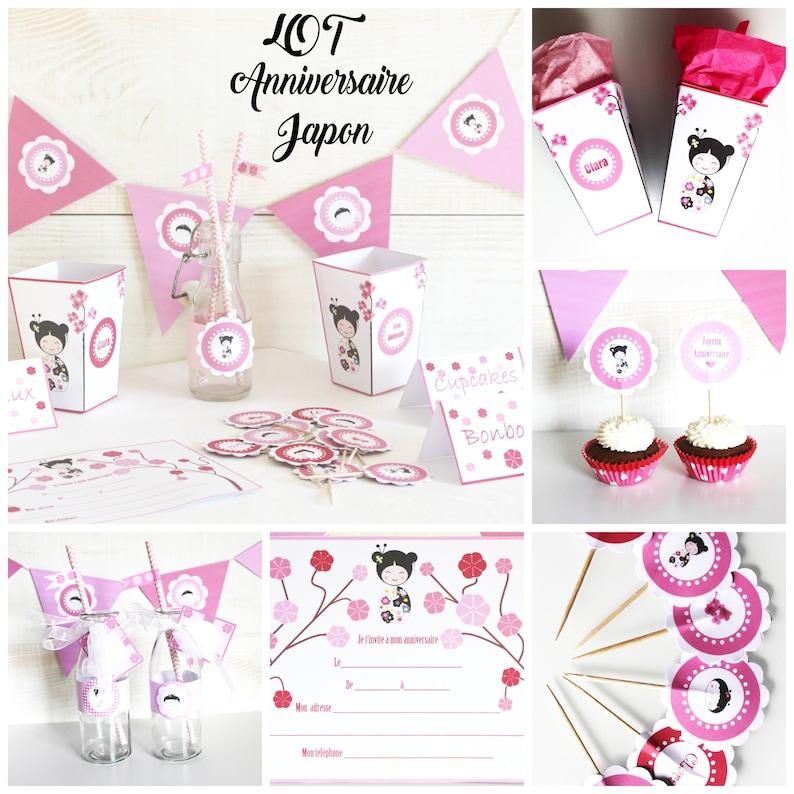 Kids Birthday set  custom age and child's name  pink image 0