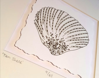 Tan Shell Illustration - Limited Edition
