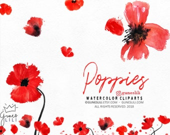 Poppy clipart etsy watercolor poppy clipart wreath clipart red floral clipart poppy flowers clipart poppies clipart wedding clipart diy invite clipart mightylinksfo