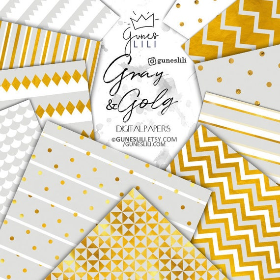 photo regarding Printable Gold Foil Paper referred to as Grey Gold Electronic Paper Printable Gold Foil Confetti