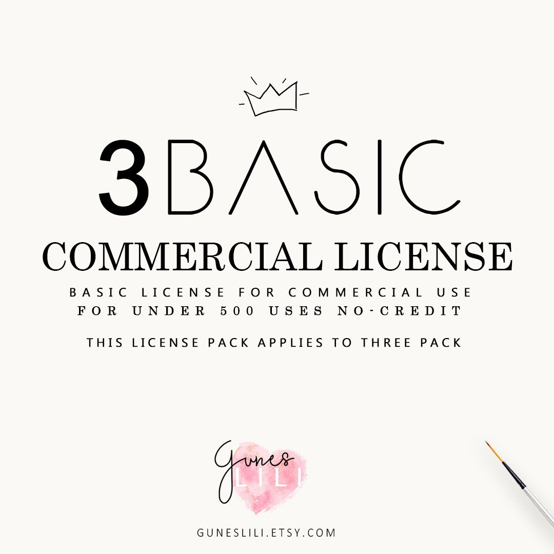 3 Basic Commercial License — Gunes Lili — for 3-THREE Products- Products- 3-THREE up to 500 uses for each one — GunesLili scrapbooking clipart digital paper 0fe725