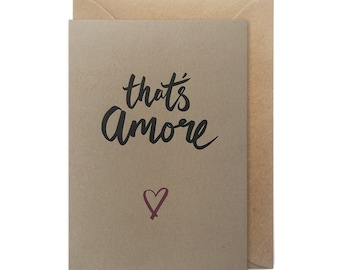 Letterpress Valentines card - That's amore