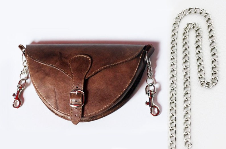 Crossbody Sling Bag Leather Bag with Clips on the side Leather Clip Pouch Belt Bag with Swing Clip Swing Clip Pouch