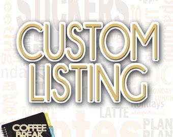 Custom Sticker Request | Please Read Full Description Before Purchasing|Regular 2.75 sheets