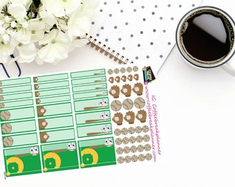 Planner Stickers| Baseball Stickers for your planner or journal| S007-HV