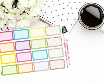 Planner Stickers |Decorative Half Box Stickers for your Planner or Journal|B004-V