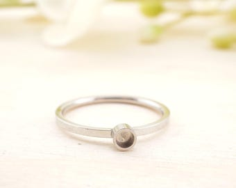 Stainless Steel Bezel Cup Ring 2.9mm -- Bezel Ring - Bezel Ring Setting - Stainless Steel Ring Blank - cabochon ring