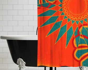 West Indies Boho Modern Shower Curtain