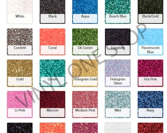 Glitter HTV Heat transfer vinyl sheet, 10x12 or 20x12 inch sheets, glitter flake iron on for shirts, Mix or Match