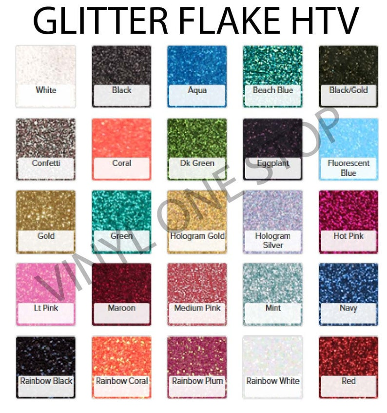 Glitter HTV Heat transfer vinyl sheet 10x12 or 20x12 inch image 0