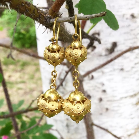 Victorian Drop Earrings - image 2