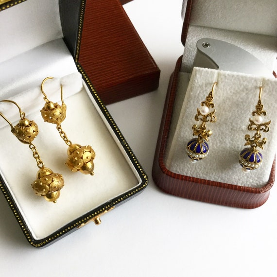Victorian Drop Earrings - image 8