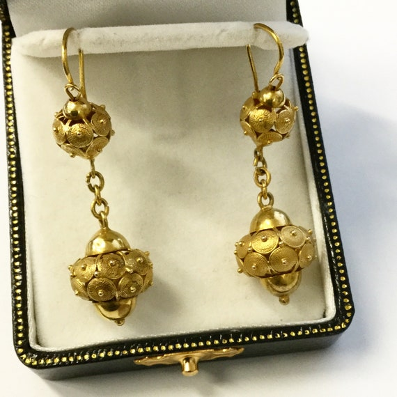 Victorian Drop Earrings - image 4