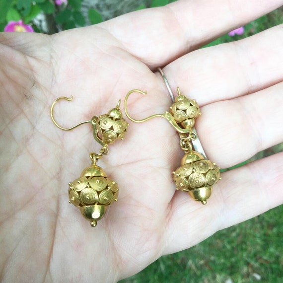 Victorian Drop Earrings - image 5
