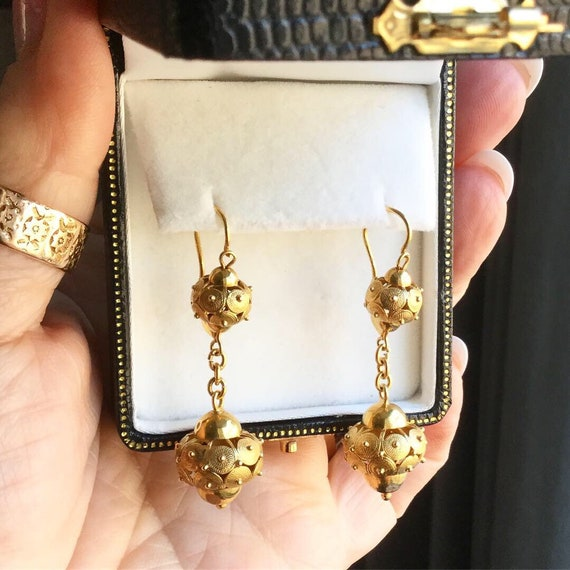 Victorian Drop Earrings - image 7