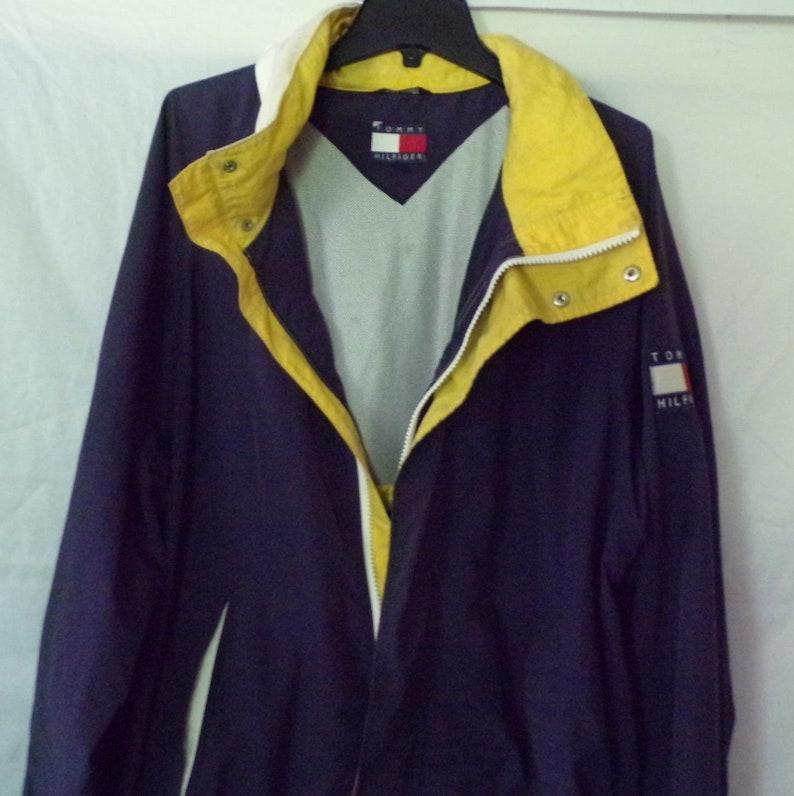 60cf58ef3 Vintage Tommy Hilfiger Jacket XXL 90s Spellout Flag Logo