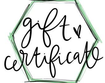 25 Dollar Gift Certificate