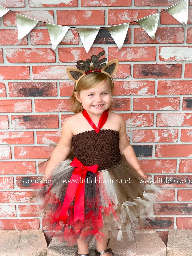 6eb453214279 Reindeer tutu dress for girls Toddler girl reindeer costume