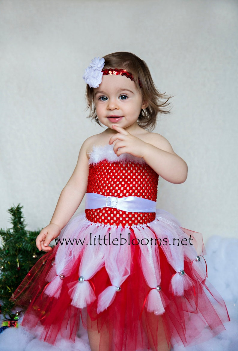 6081a3b981a1 Baby girl first Christmas outfit girl Christmas tutu dress | Etsy