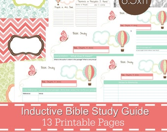 inductive bible study guide printables pdf christian bible study bible journal devotional guide bible study planner butterfly theme