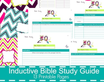 inductive bible study guide printable bible study bible printables bible study notes bible journaling bible study journal owl theme