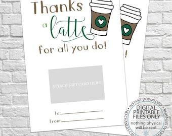 photograph about Starbucks Printable Gift Card named Starbucks present card Etsy