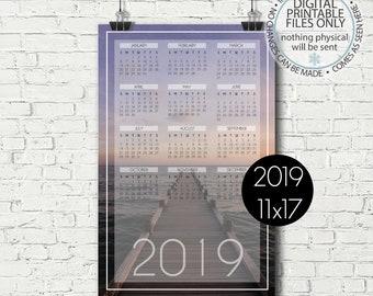 11x17 calendar etsy