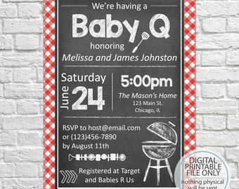printable baby bbq invitation baby q invite backyard bbq etsy