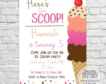 ice cream party invitation ice cream birthday invitation ice cream social invitation ice cream shoppe invitation kids birthday