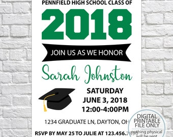printable graduation gift tags class of 2019 high school etsy