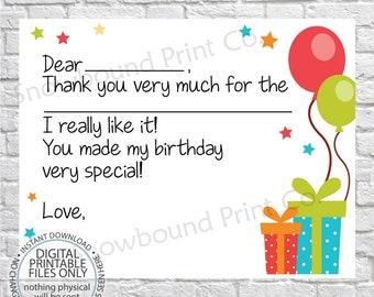Birthday Thank You Etsy