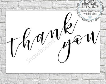 Printable Thank You Card, Baby Shower Thank You Card, Bridal Shower Thank You Card, Birthday Thank You Card, Minimalist Thank you Card