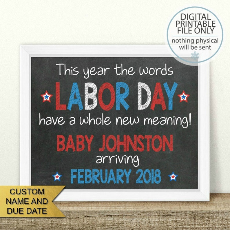 graphic regarding Closed Labor Day Printable Sign identify PRINTABLE Labor Working day Being pregnant Announcement, Labor working day includes a total refreshing which means, Chalkboard Signal, Picture Prop, Had been anticipating being pregnant demonstrate